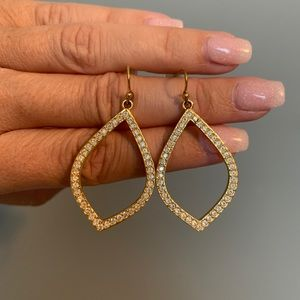 Gold Touchstone Crystal earrings